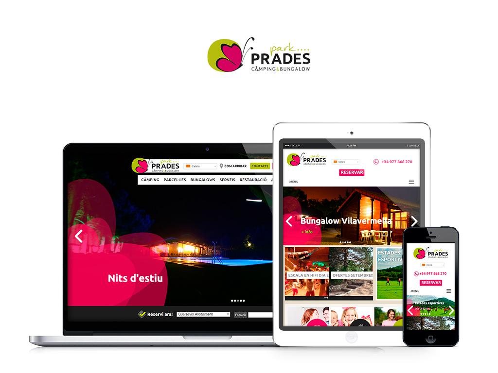 Camping Prades Park étrenne une Nouvelle page Web